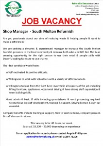 South Molton Manager Poster
